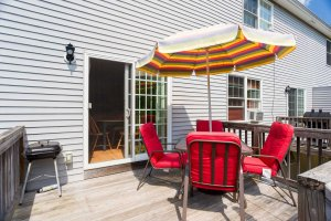 Relax outside on your sunny deck